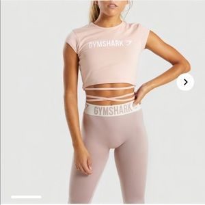 Gymshark Ribbon Capped Sleeve Crop Top